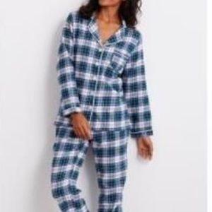 THE COMPANY STORE Pyjama Flannel Blue Plaid New XL